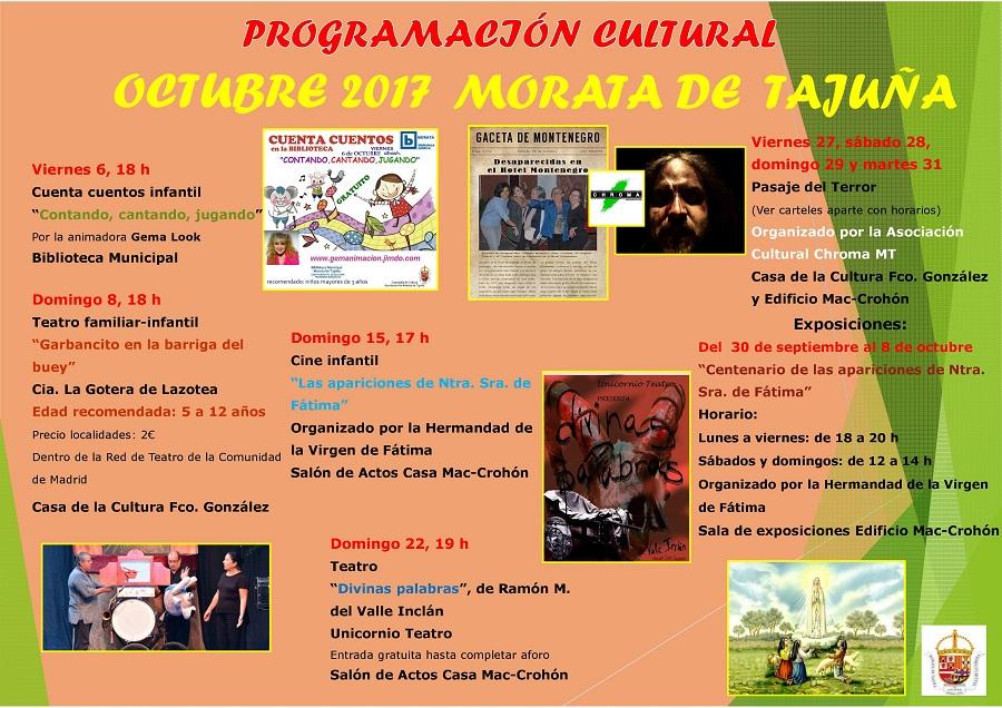 programacion cultural octubre17
