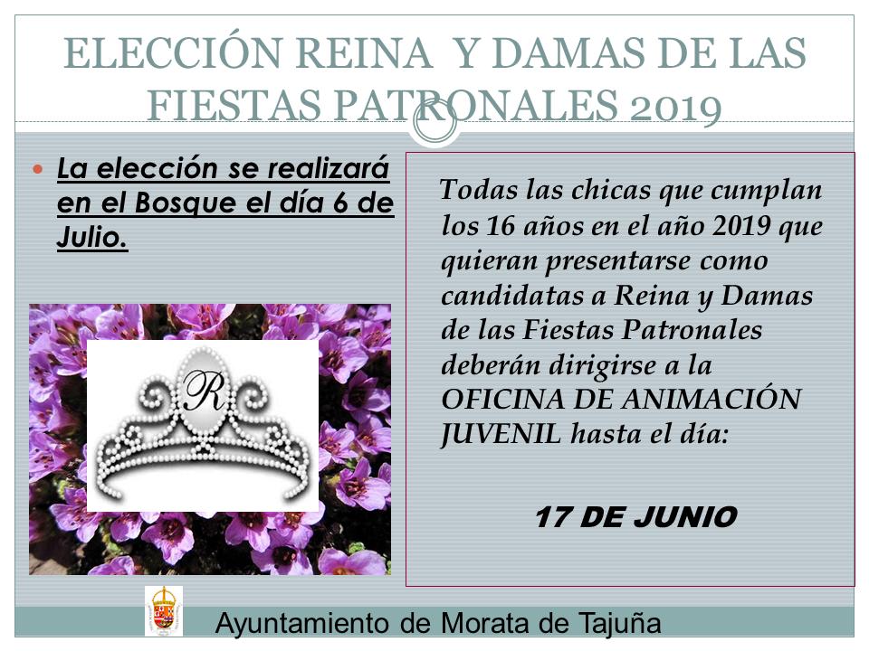 ELECCION REINA Y DAMAS DE LAS FIESTAS 2019