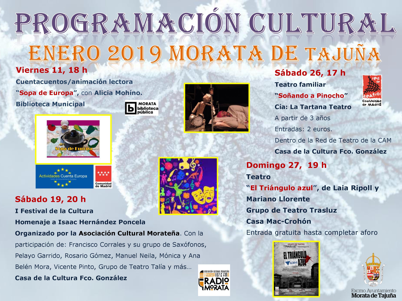 Programación cultural enero 2019