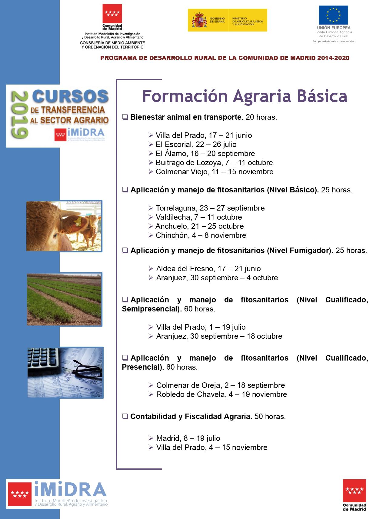 cursos formacion agraria basica 2019