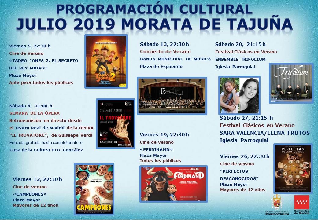 programación cultural julio19